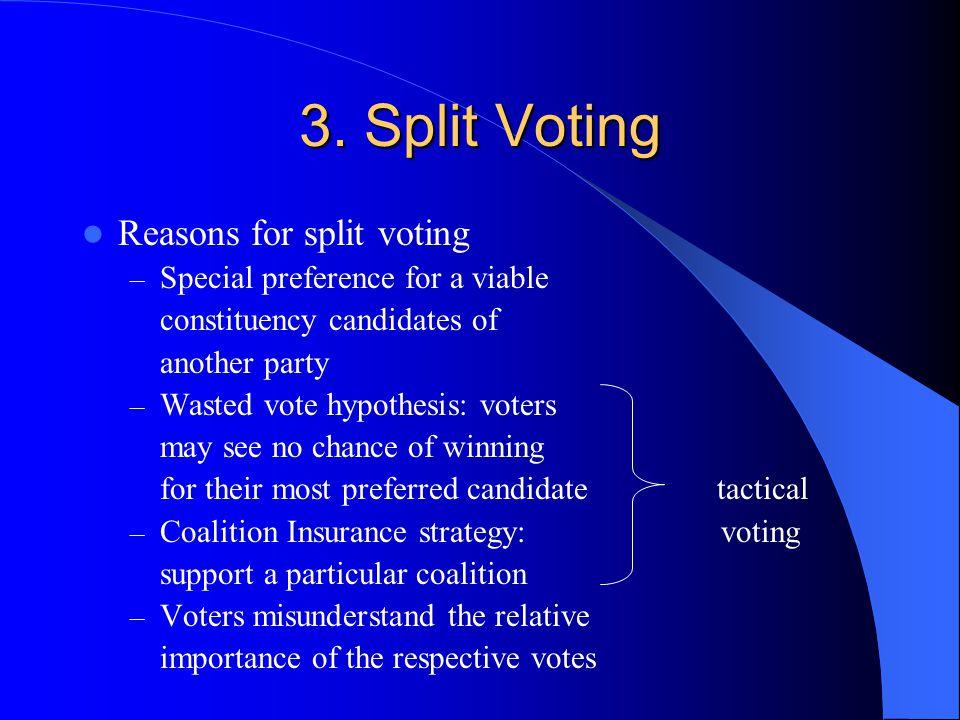 3. Split Voting Reasons for split voting