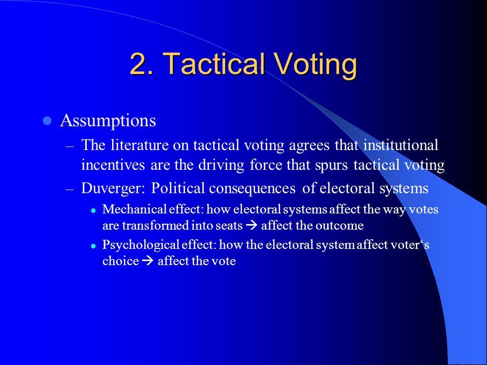 2. Tactical Voting Assumptions