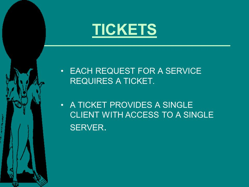 TICKETS EACH REQUEST FOR A SERVICE REQUIRES A TICKET.