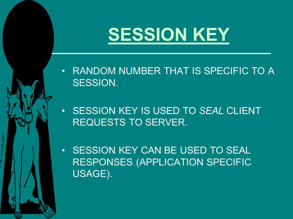 SESSION KEY RANDOM NUMBER THAT IS SPECIFIC TO A SESSION.