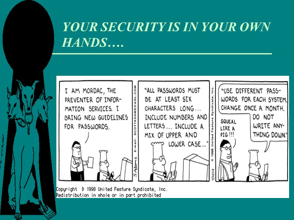 YOUR SECURITY IS IN YOUR OWN HANDS….