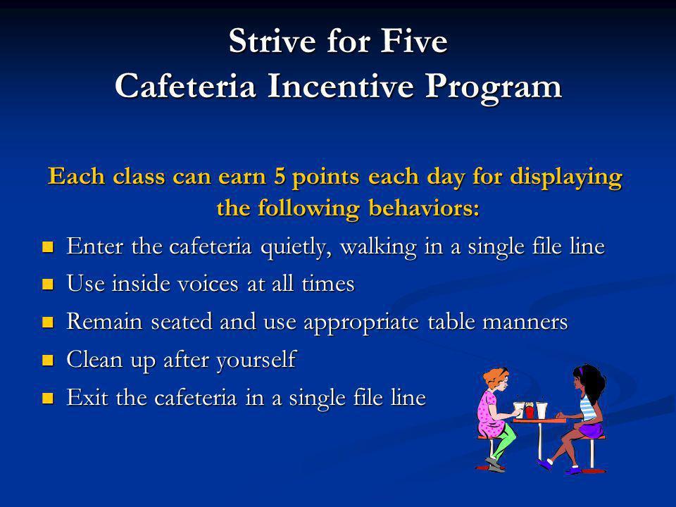 Strive for Five Cafeteria Incentive Program