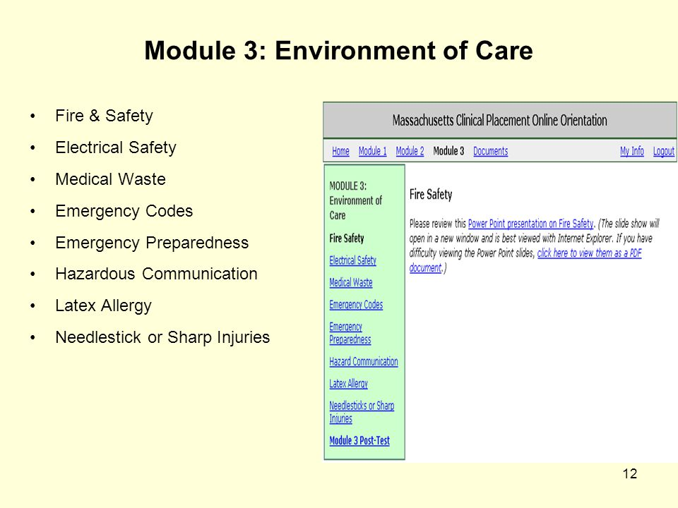 Module 3: Environment of Care