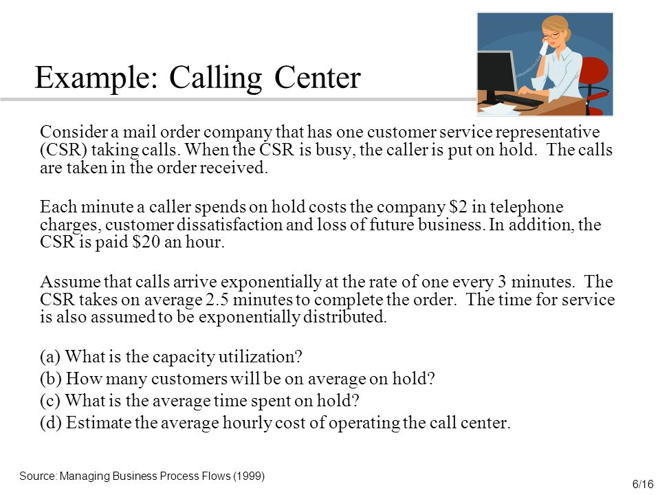 Example: Calling Center