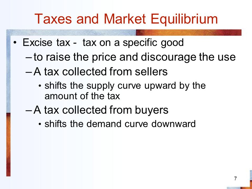 Taxes and Market Equilibrium
