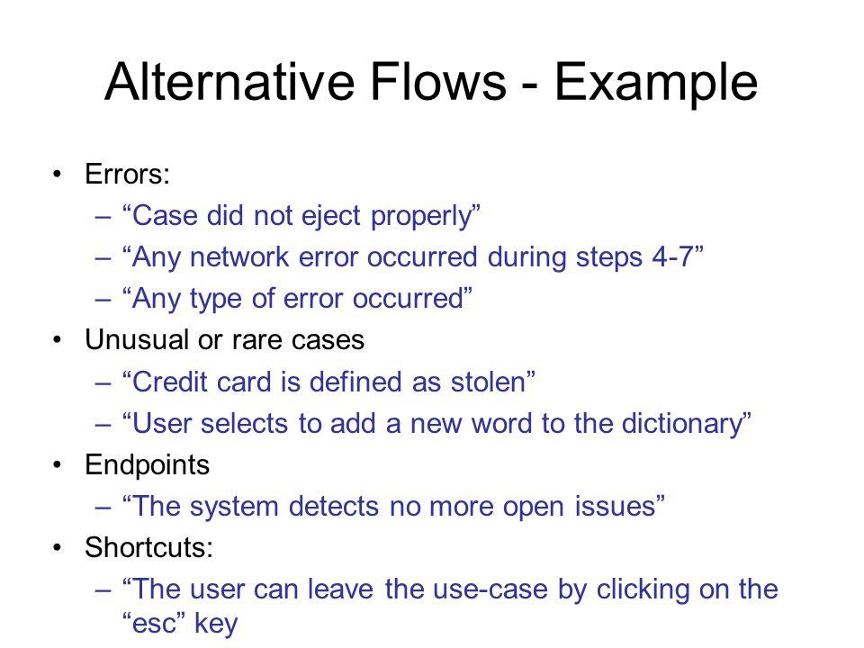 Alternative Flows - Example