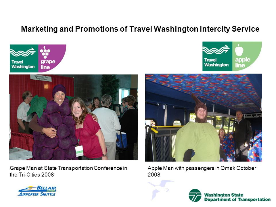 Marketing and Promotions of Travel Washington Intercity Service