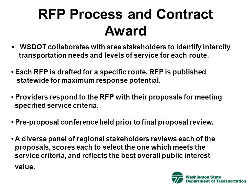 RFP Process and Contract Award