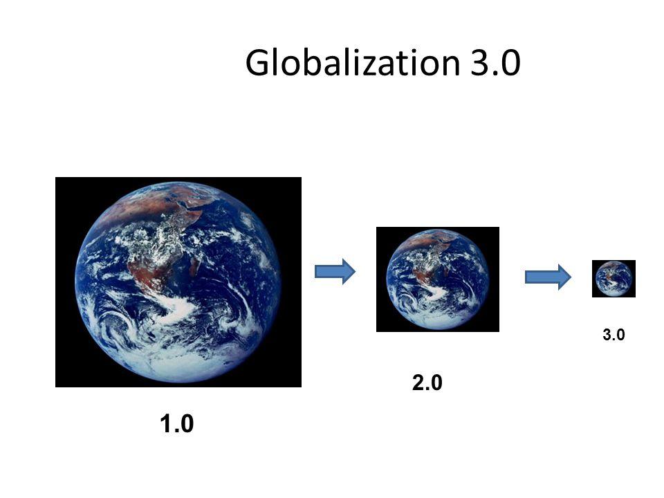 Globalization 3.0 3.0 2.0 1.0