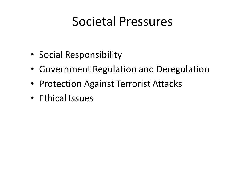 Societal Pressures Social Responsibility