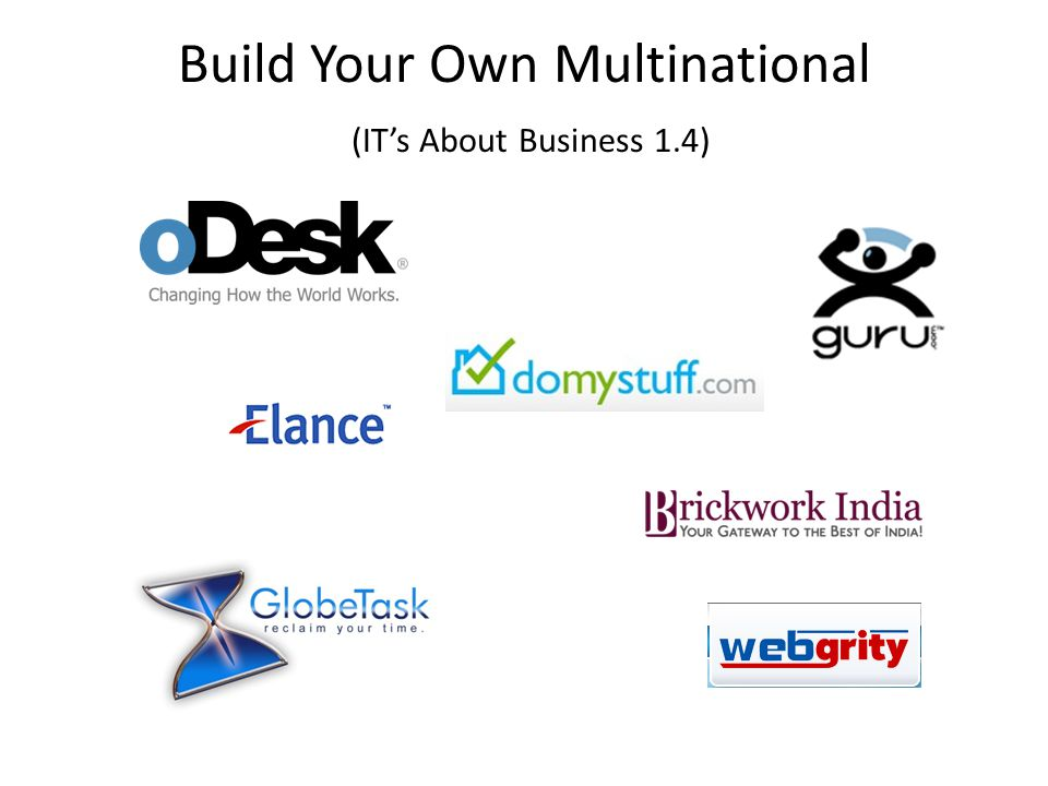 Build Your Own Multinational (IT's About Business 1.4)