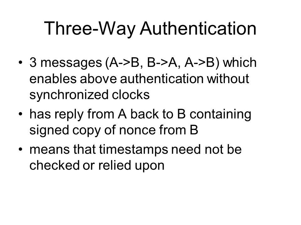 Three-Way Authentication