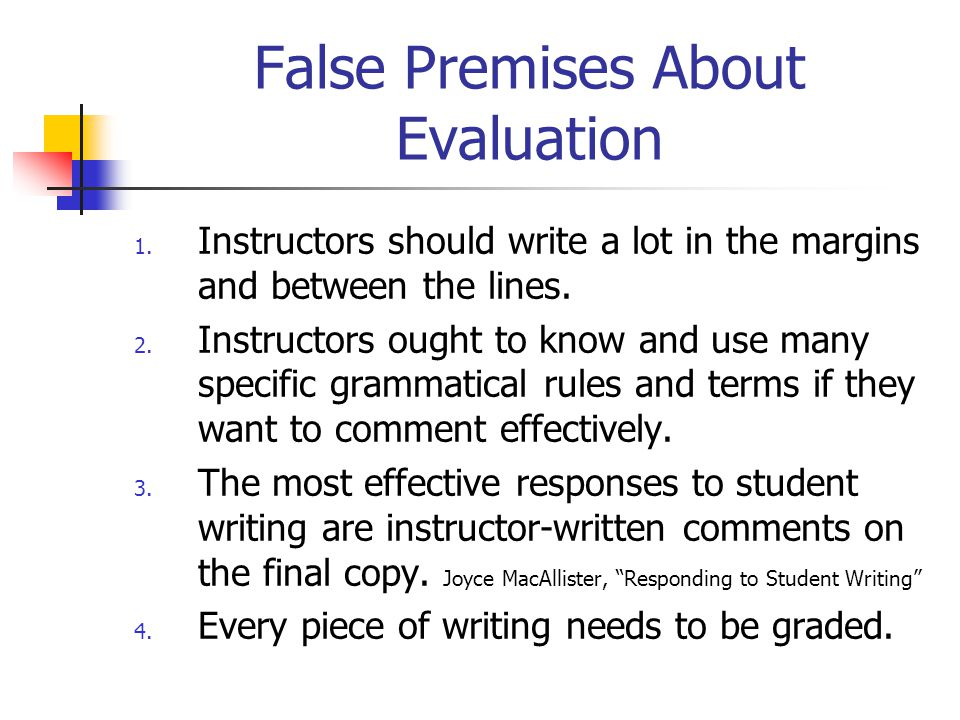False Premises About Evaluation
