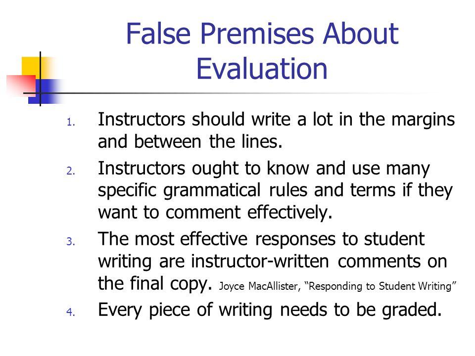 False Premises About Evaluation