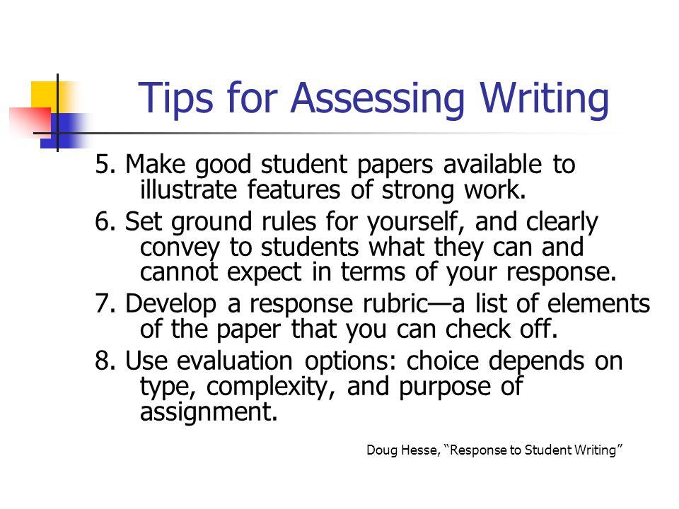 Tips for Assessing Writing