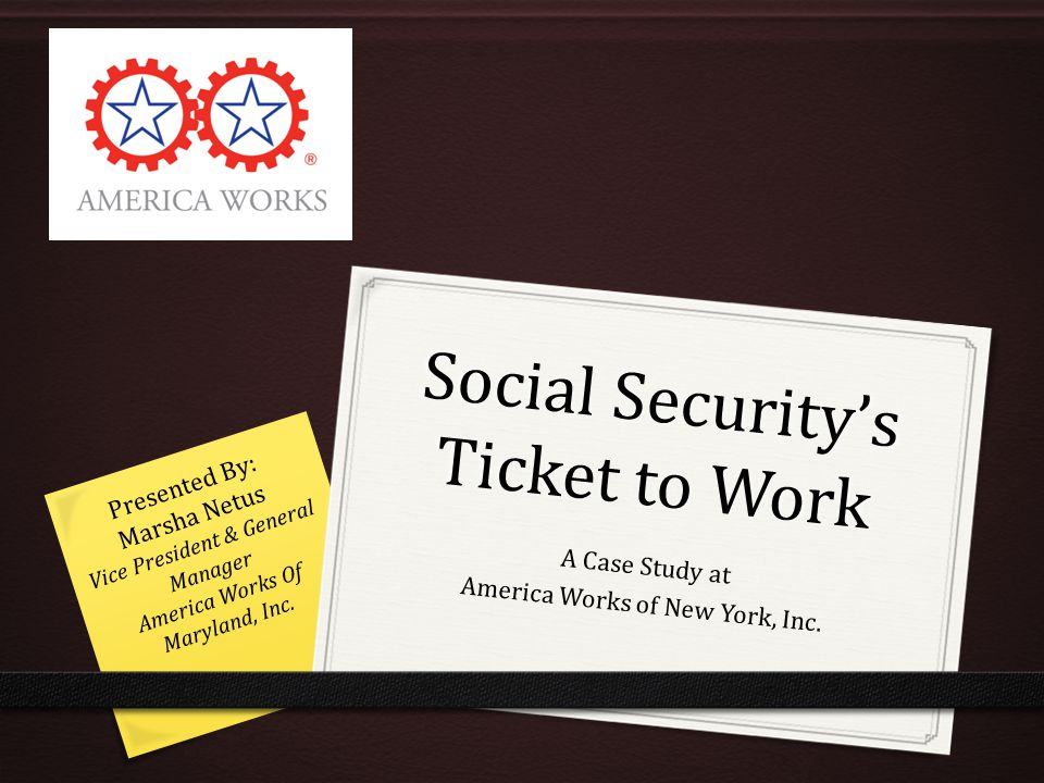Social Security's Ticket to Work