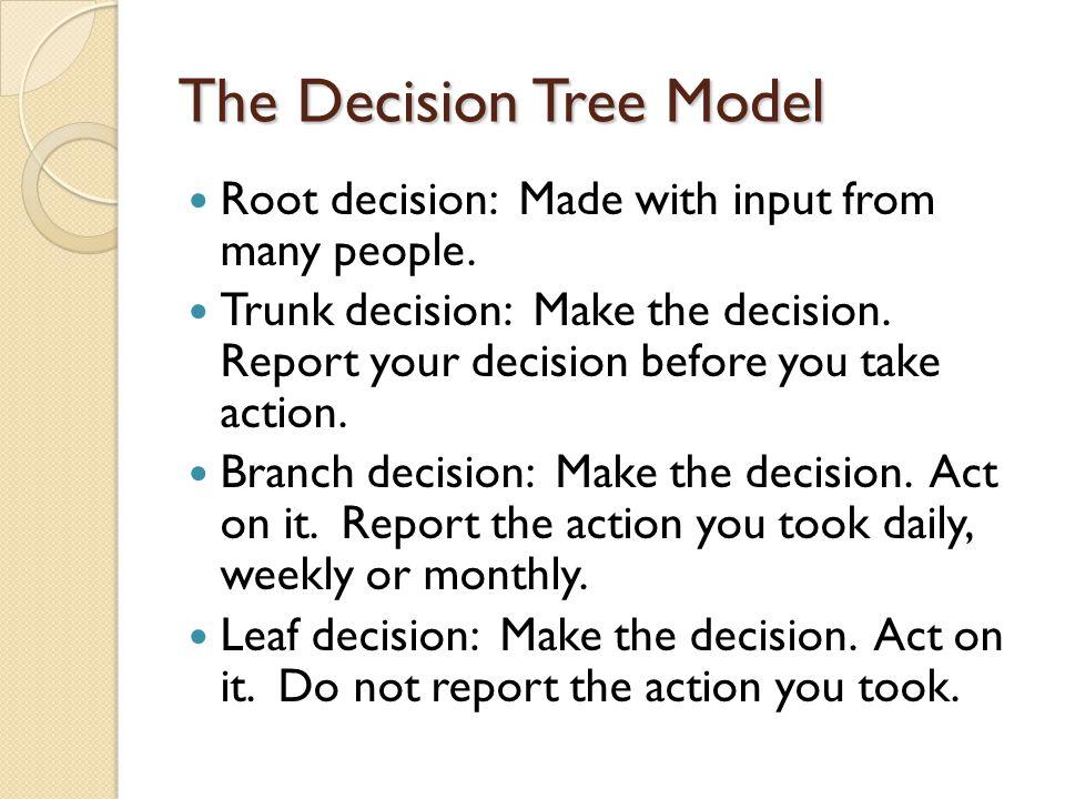 The Decision Tree Model