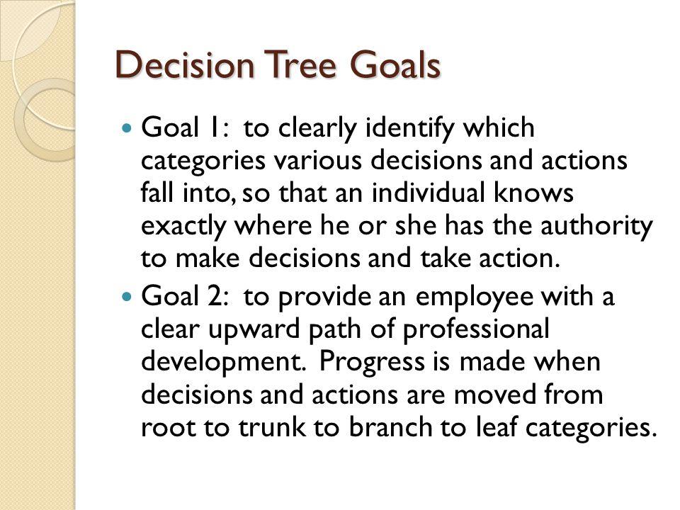 Decision Tree Goals