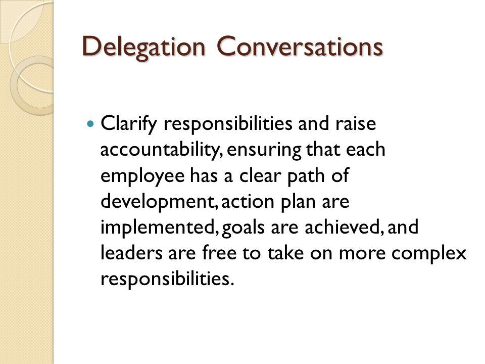 Delegation Conversations
