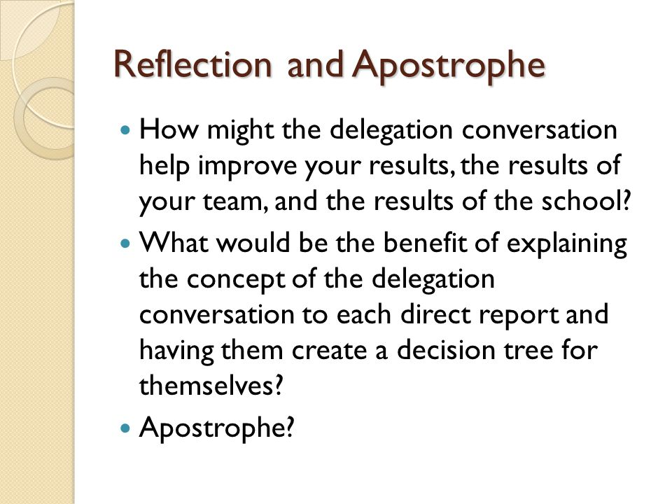 delegation reflection Why delegation is important delegation is important for 1) efficiency and 2) development as shown in the introduction to the module, the chairman of the senior retreat committee involved his committee.