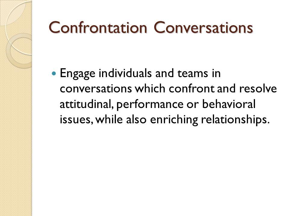 Confrontation Conversations