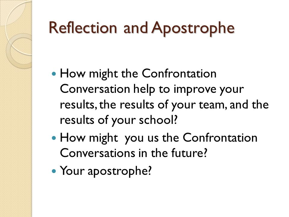 Reflection and Apostrophe