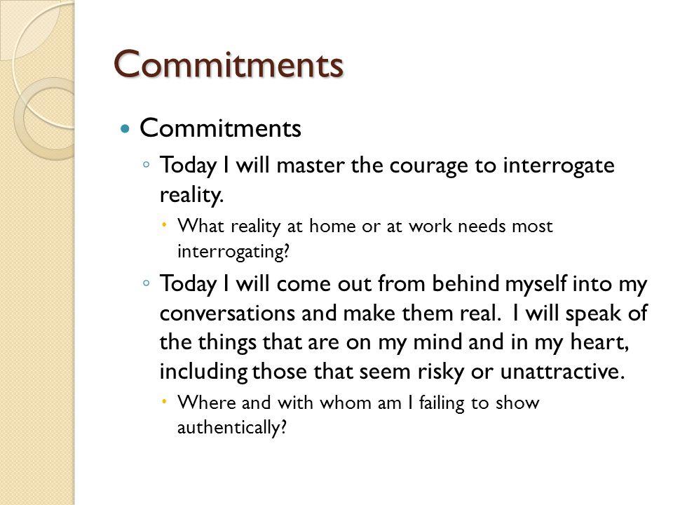 Commitments Commitments