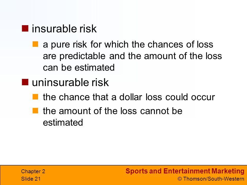 insurable risk uninsurable risk