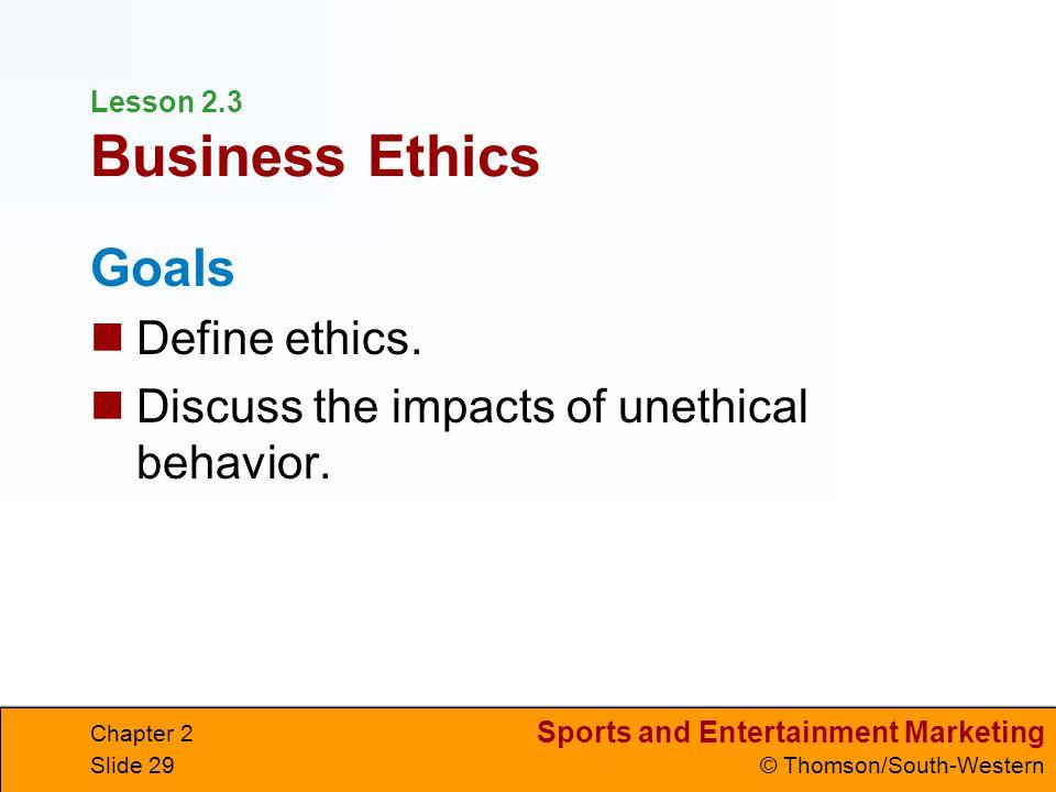 Lesson 2.3 Business Ethics