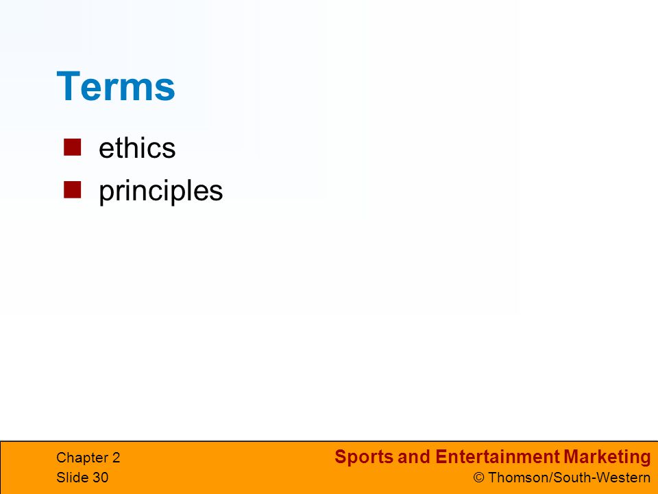 Terms ethics principles Chapter 2