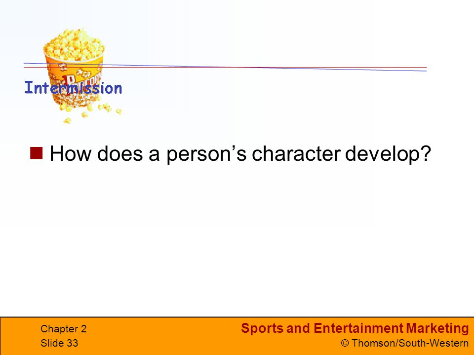 How does a person's character develop