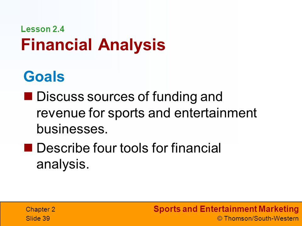 Lesson 2.4 Financial Analysis