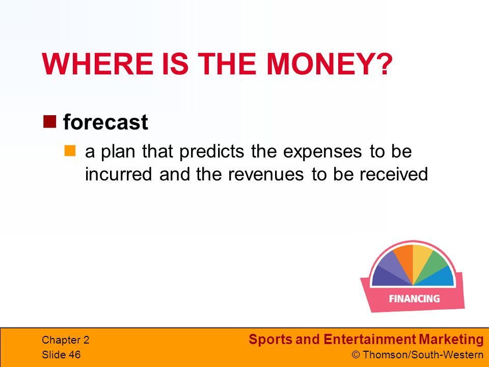 WHERE IS THE MONEY forecast