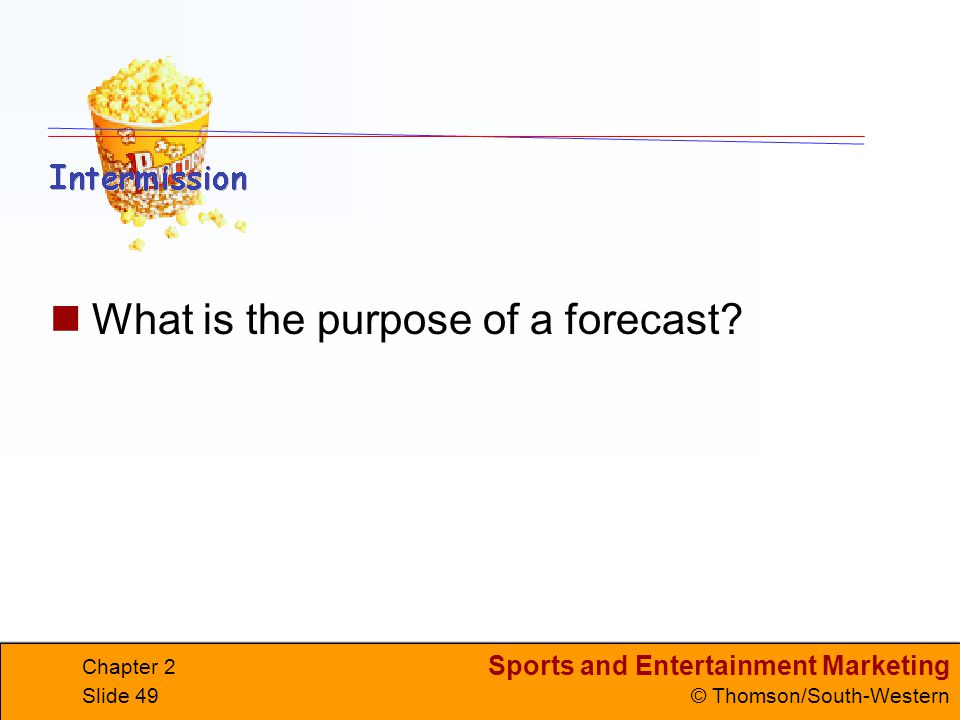 What is the purpose of a forecast