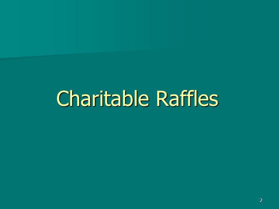 Charitable Raffles