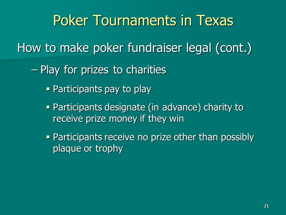 Poker Tournaments in Texas