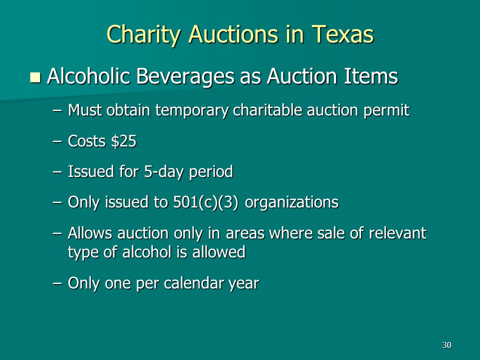 Charity Auctions in Texas