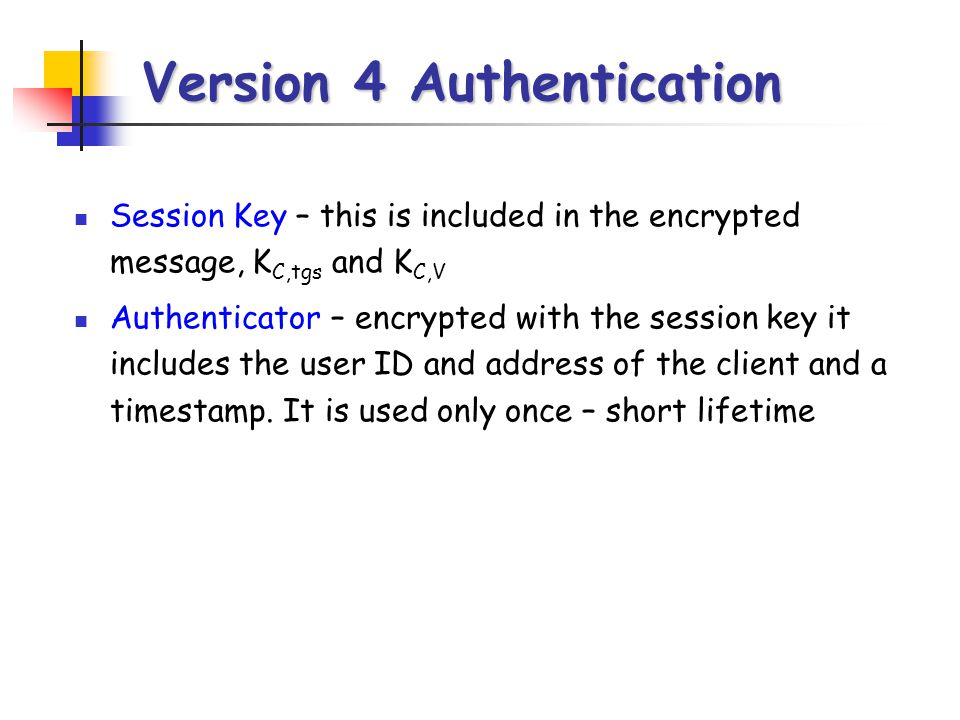 Version 4 Authentication