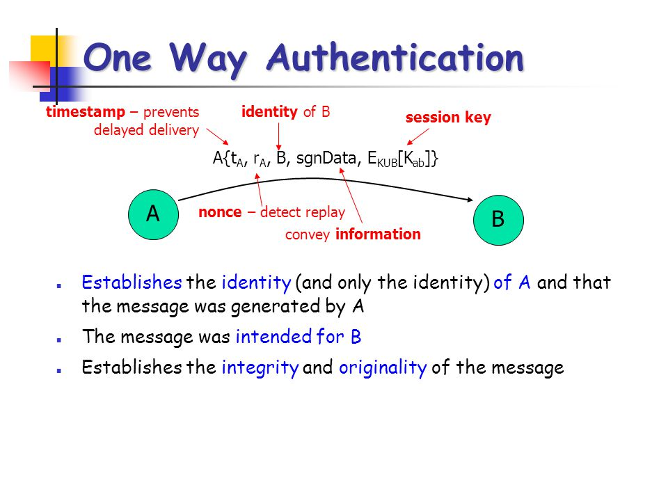 One Way Authentication