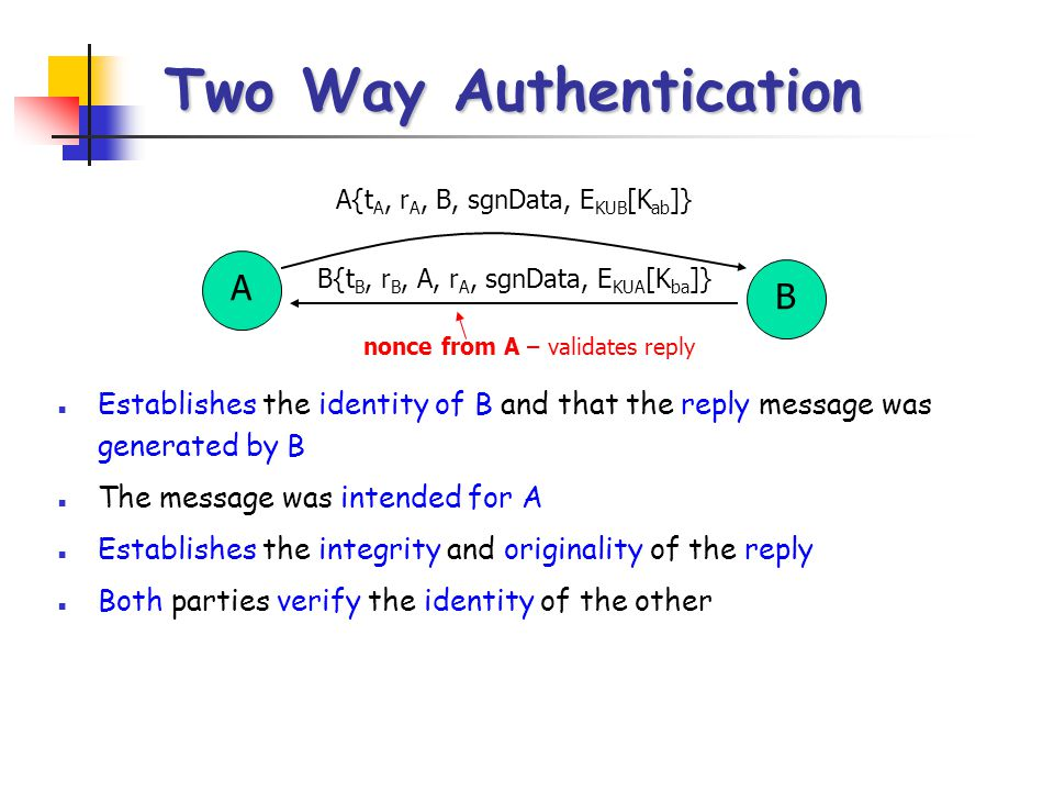 Two Way Authentication