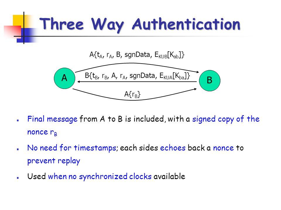 Three Way Authentication