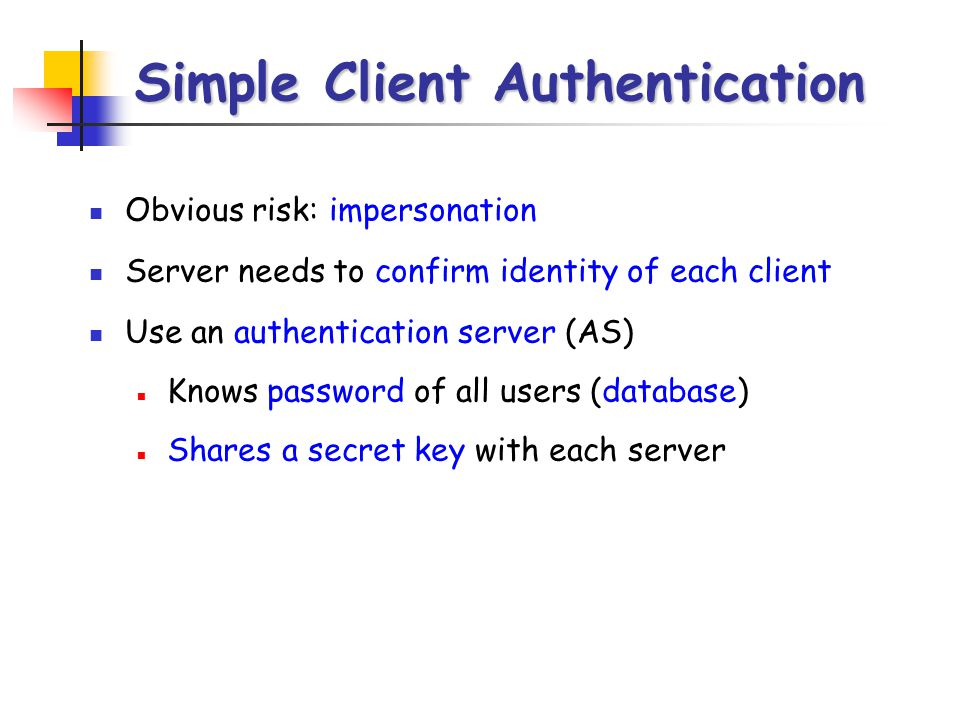 Simple Client Authentication