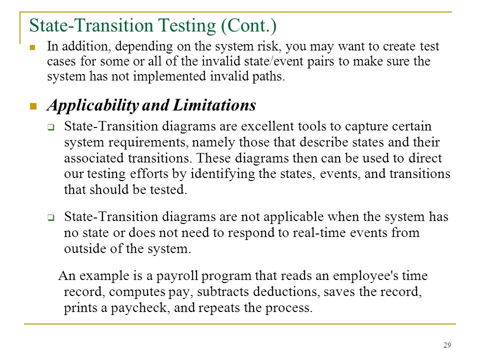 State-Transition Testing (Cont.)
