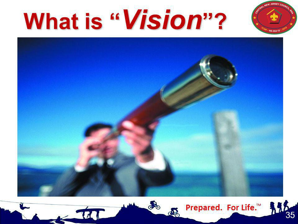 What is Vision Again, in your own words, what is a vision