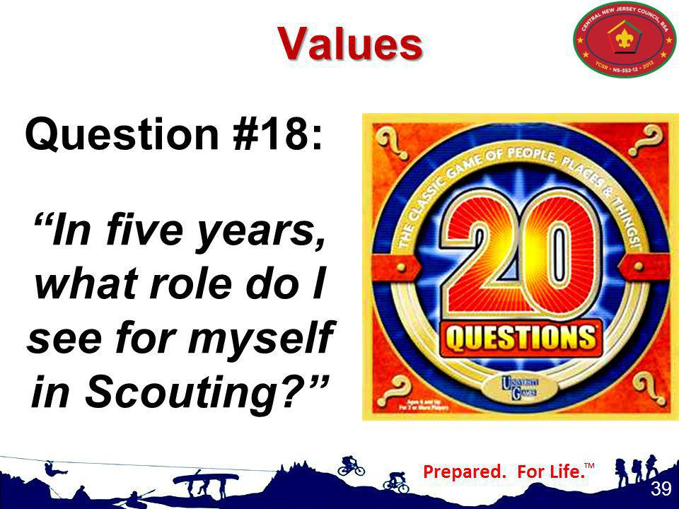 In five years, what role do I see for myself in Scouting