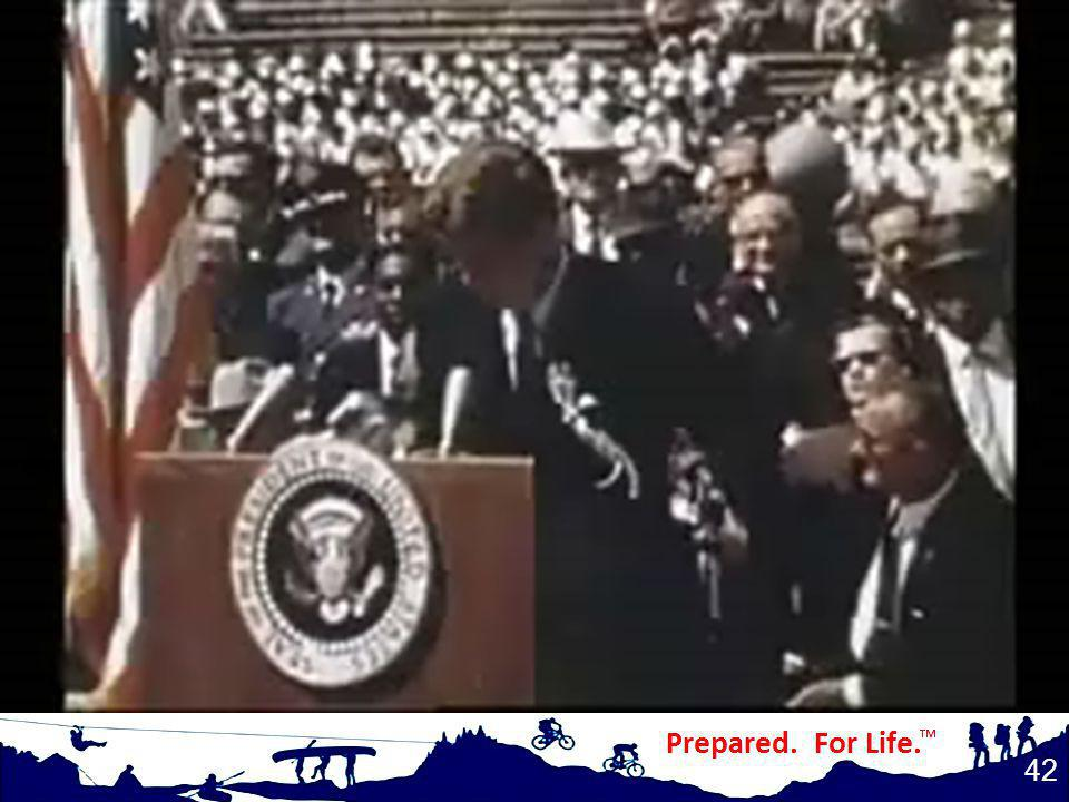 (play video) John F. Kennedy: We choose to go to the moon.