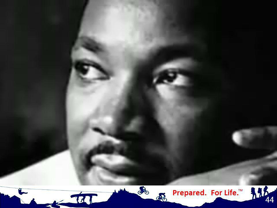 (play video) Martin Luther King: I have a dream.
