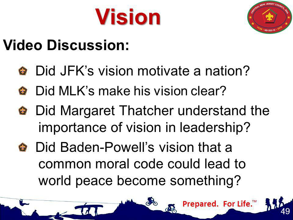 Vision Video Discussion: Did JFK's vision motivate a nation