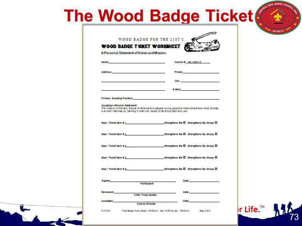The Wood Badge Ticket