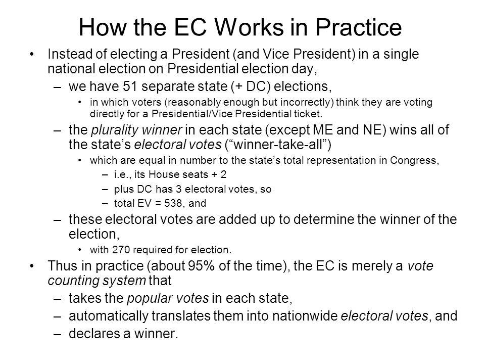 How the EC Works in Practice